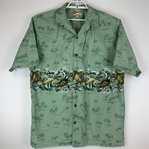 Hilo Hattie Mens Hawaiian Shirt USA Made 2XL EUC